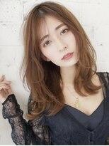 アグ ヘアー ドレス 喜久田店(Agu hair dress)抜け感ウェーブ×セミロング