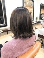 エトネ ヘアーサロン 仙台駅前(eTONe hair salon)30代.40代,50代 前下がり 大人ミディアム