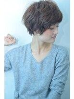 【morio池袋】骨格矯正ニュアンスパーマのマッシュショート