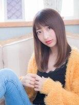 オーブ ヘアー フィオーレ 京都桂店(AUBE HAIR fiore)透明感あるカラーで大人ストレート☆