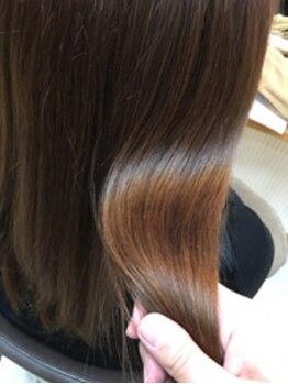 """ヘアーアンドメイク カズヨ(Hair&Make CAZUYO)の写真/""""クセレベルスケール""""で、お客様に合った薬剤の選択・最適な施術が可能に☆理想の髪質・最高の艶髪へ…♪"""
