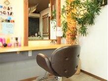 ヘアー キューブ 桜木店(hair cube)の雰囲気(店内には緑がいっぱい!癒されます。【都賀・桜木・小倉台】)
