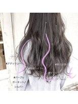 スーベニール(souvenir)白髪もカバーできるハイライト3Dカラー 透明感あるアッシュが◎