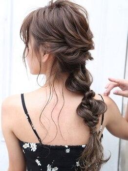 デイズ(DAY☆S)の写真/思い出に残したいスタイルはとびきり洒落込んだスタイルで…★特別な日の愛され髪ならプロにお任せ♪