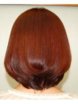 ヘアアンドメイクムーンの写真/自然な丸み。前髪もペタンとならない!【ヘア&メイク ムーン】の縮毛矯正は仕上がりが違う!