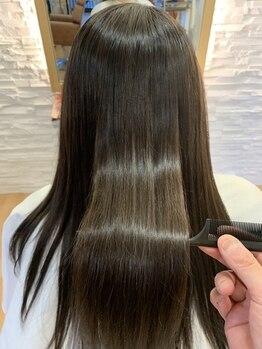 カーラ サロン(Carra Salon)の写真/【JR尼崎駅5分】遠方からのリピーターも多い人気MENU☆あなたの髪質に合わせたオーダーメイドストレート♪