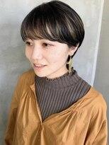 テトヘアー(teto hair)マッシュショートハイライトデザインカラー黒髪金髪
