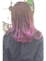 ヘアーサロン エール 原宿(hair salon ailes)(ailes原宿)style313 デザインカラー☆パープルベリー
