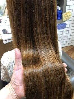 ヘアー メイク ワショウ(HAIR MAKE WASHAW)の写真/ダメージレスを実現したWASHAWの縮毛矯正!話題の商材で、翌朝からのお手入れが驚くほど簡単に☆