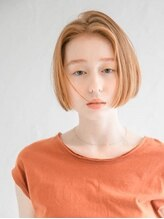 アース 三木店(HAIR & MAKE EARTH)切りっぱなしミニボブ スタイル