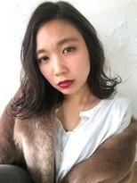 ケンジ 横浜(KENJE)Ayaka★3Dカラーで透明感!!ダークグレージュ×ラフウェーブ☆