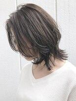 アルバム シブヤ(ALBUM SHIBUYA)ミディアムレイヤーベージュ_ボルドーフェザーロング_ba115851