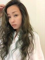 《R+》バレイヤージュ☆オリーブアッシュ