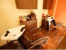 ヘアーメイク ミウ 古屋店(hair make mieux)の雰囲気(ゆったり座れるシャンプー台…じっくり癒されてください♪)