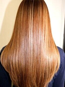 ヘアーメイク ラウカ(Hair Make Rauka)の写真/【カラー+縮毛◎】オーガニック縮毛矯正導入☆残留アルカリがないからダメージ気にせずシルク髪が手に入る