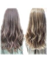 """イルミナカラーとは、""""光色""""という意味のウエラが開発した第三のカラー剤♪ダメージレス髪再生☆¥5700"""