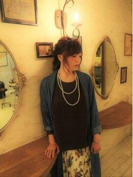 シュシュ ヘアーメイク(chou chou HAIR MAKE)の写真/お家でも再現できる丁寧なアドバイスと施術が◎あなただけのオーダーメイドスタイルを提供してくれます☆