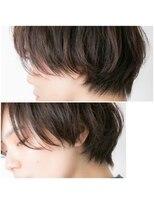ユーフォリアギンザ(Euphoria GINZA)20代30代40代小顔ハンサムショートボブ黒髪前下がり 担当畑