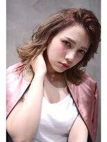 """透け感gradation☆""""patina beige""""×""""smoky pink"""" midi 01"""