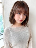 松宮錦糸町ヨシンモリココアベージュ前髪パーマミディアムウルフ