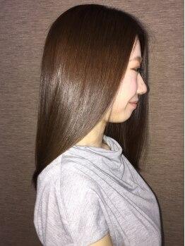 アぺル(apare)の写真/新発想のダメージケア!クセ&ダメージを同時に改善する【シルキーストレート】指通りなめらかな潤い髪に―