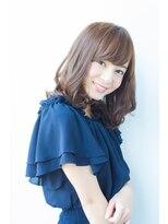 アッシュタカサキ(ash takasaki)スタイリング簡単♪無造作カール×大人かわいいセミディ