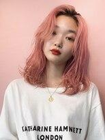 シャチュー(SHACHU)【MORIYOSHI】韓国風コーラルピンク×ニュアンスミディ