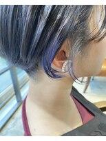 emue京都◯刈り上げ女子×ラベージュ+インナーカラー◯中島