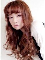 ヴェローグ シェ ブー(belog chez vous hair luxe)タンジェリンオレンジのつや髪ロング