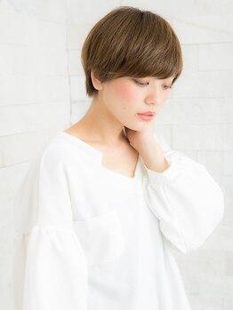 アトリエ モーリスヘアー 新狭山店の写真/【カット¥3020】女性らしさを引き出すショートヘア☆クセを活かしカットで扱いやすい仕上がりに◎