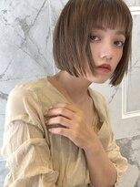 プレスドットサロン 表参道 青山(Press. Salon)前髪切りっぱなしシアーボブ [青山/表参道]