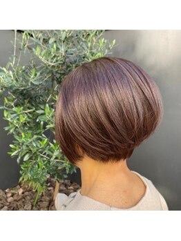 シャインヘアフラッペ 新百合ヶ丘2号店(Shine hair frappe)の写真/【OLAPLEX取扱店】髪に優しい薬剤で自然に染め上げます!繰り返し染めてもダメージレス&ツヤ髪続く…♪