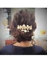 結婚式★おくれ毛キュンキュンまとめ髪