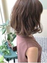 マテカ ヘアー(mateca hair)【mateca】ピンクグレージュ×ふわボブ