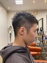 【#スパイキーベリーショート】×メンズ黒髪ヘア