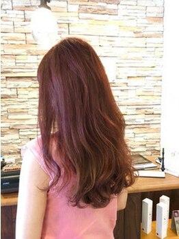 マハロ ヘア リゾート(MAHALO HAIR RESORT)の写真/【美髪ケアならmaHaLo☆】絶妙なカラーでツヤ感も長持ち◎女性らしい透明感あるトレンド×旬のStyleへ♪