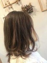 ヘアーディープ(hair deep)レイヤー×ハイライトベージュ