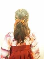 【neolive kuta町田店】卒業式 袴着付け ハーフアップ