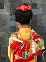 フラココトリコ(hurakoko trico)[hurakokotrico]和泉美佳 7歳の七五三 和装アップスタイル