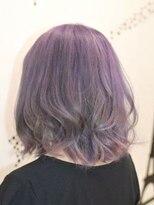 ヘアーサロン エール 原宿(hair salon ailes)(ailes 原宿)style350 グレージュ☆パープル☆ひし形シルエット
