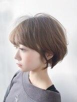 オーブ ヘアー カルネ 松戸店(AUBE HAIR carnet)【AUBE HAIR】ふんわりショート_モカウェーブ