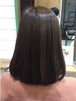 ヘアアトリエ バル(hair atelier bal)の写真/【オーガニック縮毛矯正★】ナチュラルな質感でふんわりやわらかサラサラストレートヘアが叶う♪