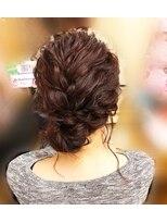 ヘアセットサロン アトリエ チャイ(Hair set salon atelier CHAI)なみ編みゆるっとおだんごアップ♪