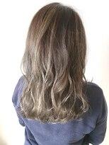 フレイムスヘアデザイン(FRAMES hair design)ハイライト×プラチナベージュ