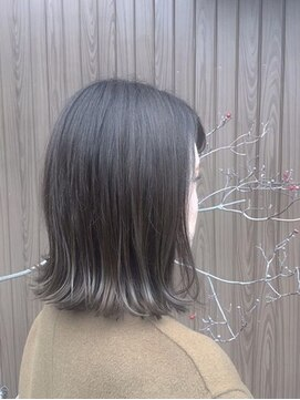 エンヘアー(en hair)シークレットハイライトが効いてる大人外ハネボブ◎
