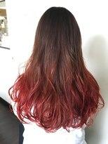 フェリーク ヘアサロン(Feerique hair salon)レッド・オレンジのグラデーションカラー