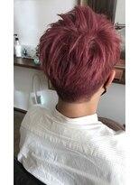 メンズピンクヘア