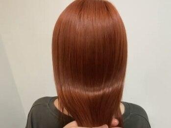 """ベルクープス(Belle Coupes.S.O)の写真/""""ダメージを抑えたブリーチ""""で、""""透明感""""のあるカラーに♪髪に優しい薬剤で、艶のある美しい髪へ☆"""