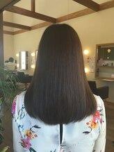 ビアンカ 髪にやさしい美容室(bianca)うるおってダメージレスなナチュラルミディスタイル【美濃加茂】