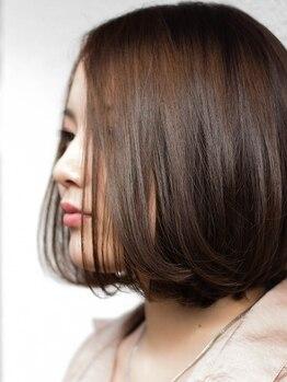 ティースタイル(hair salon t-style)の写真/【カラー+トリートメント¥4860】うねりや広がりが気になる方に、内部まで浸透する3STEPトリートメント♪